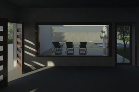 view toward deck