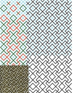 Non-regular tessellation-2 Paigah tomb square grid